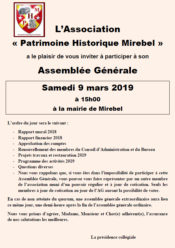 Affiche AG PHM 2019