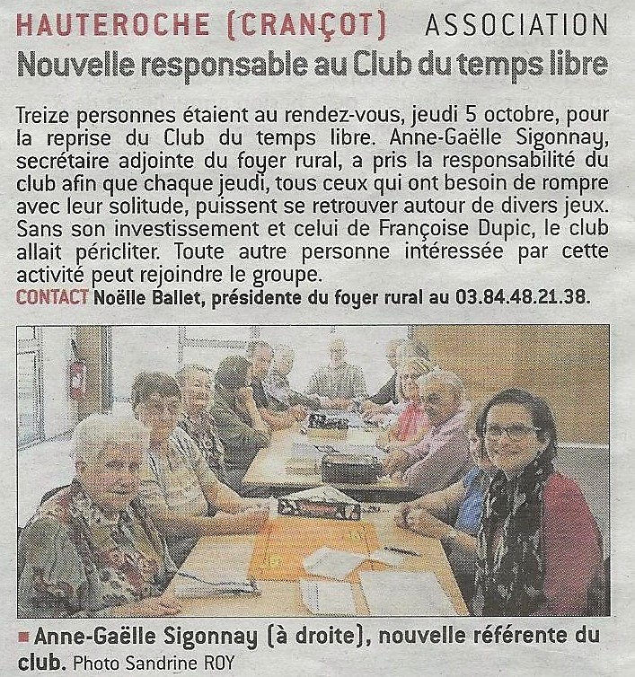 Club du temps libre