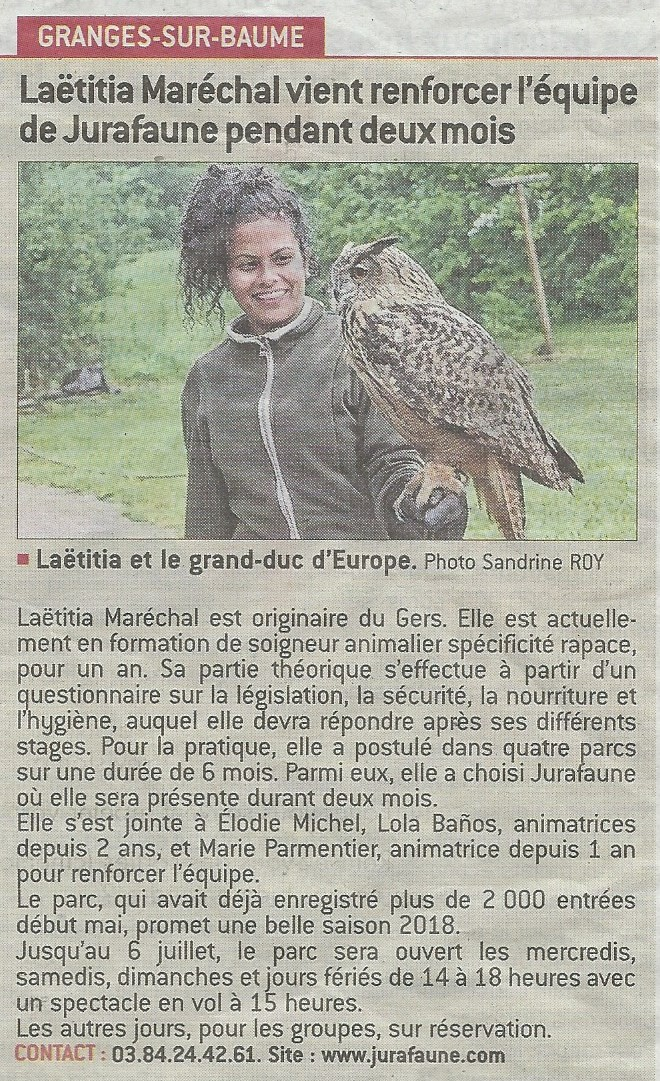 stagiaire Jura Faune