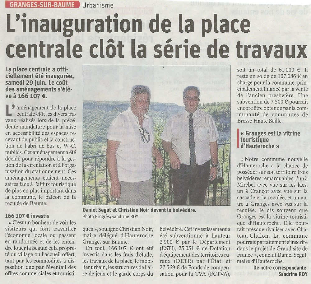 Inauguration place de Granges